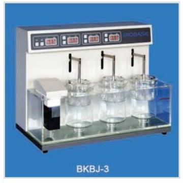 Disintegration Tester for Drug Use with Three Cups