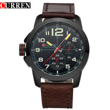 Luxury Sport Leather Band Men Wrist Watches