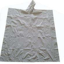 Tissu imperméable de motif de poncho de pluie en plastique