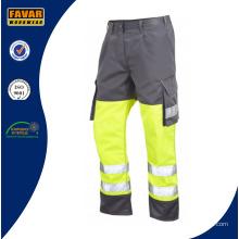 Poly/Baumwolle Mens Multi Taschen Arbeitshosen mit Reflexstreifen