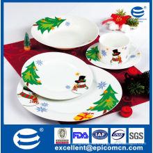 hot new products for 2015 Christmas gift set porcelain dinner set