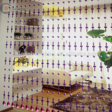 Chine en gros rideau de porte à perles en verre transparent