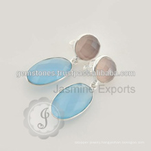 Wholesale Supplier Of Chalcedony Silver Gemstone Earring For Christmas