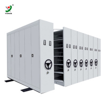 Compact System Steel Library Shelves Mass Mobile Shelving