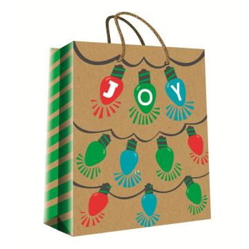 CHRISTMAS SERIES KRAFT GIFTBAG21-0