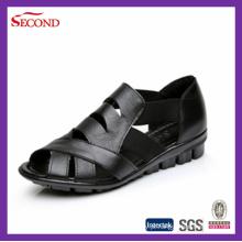 Cheap Crocodilo couro sandálias para homens e mulheres