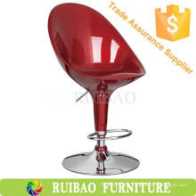 RBS-6002 Ruibao Bar Furniture Bancadeira de plástico barato em plástico alto traseiro