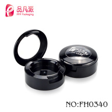 2017Cute round empty powder case eye shadow case compact for cosmetic case