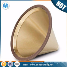 Pour over coffee maker brewer paperless cone dripper coffee filter for hario