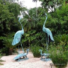 escultura de alta qualidade da tartaruga do tread do guindaste interno do bronze da decoração para venda