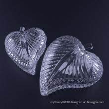 Hand Pressed Leaf Shaped Glass Jewelry Box