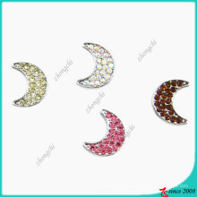 8mm cristais Moon Slider Charme Beads para Bracelet Making (JP08)