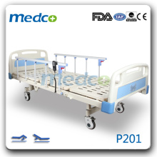 MED-P201 two functions electric hospital patient bed with casters