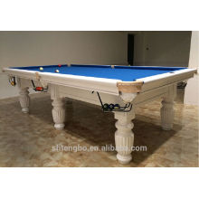 factory manufacture cheapest games billiard table with all wood leg