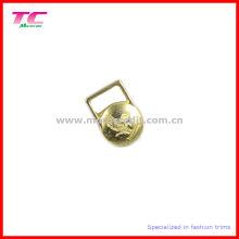 Debossed marca decorativa metal tirador de cremallera para la ropa