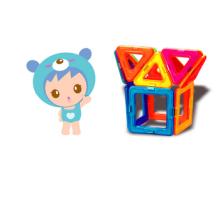 Educação pré-escolar brinquedos vara magnética de plástico combinação de blocos de construção 3D