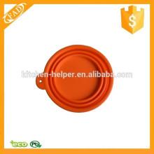 Different Colors Reusable Silicone Pet Foldable Bowl
