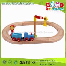 2015 Brinquedos Educativos Conjunto de mini trem de madeira azul para crianças
