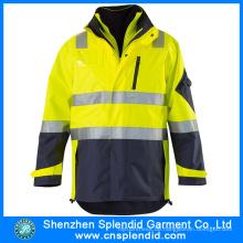 Kundenspezifische Mens Winter Reflective Safety Flight Jacken