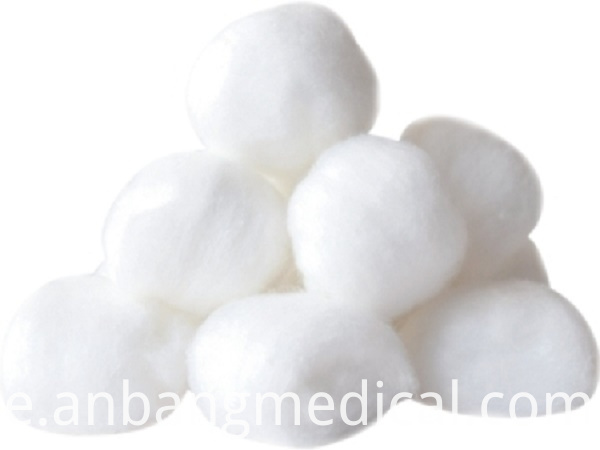 Absorbent cotton ball