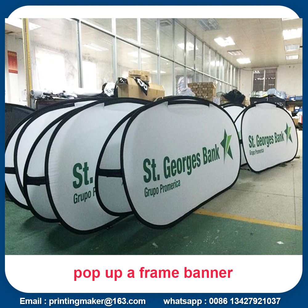 pop up fabric banner