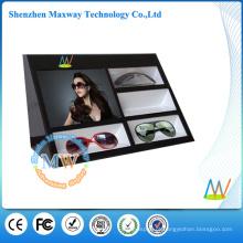 Suporte de exposição acrílico para óculos com leitor de vídeo LCD de 7 polegadas