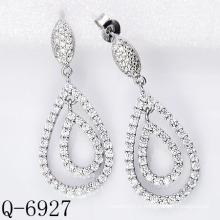 Dernières boucles d'oreilles Styles 925 bijoux en argent (Q-6927)