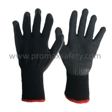 10 Gauge Black Tc Strickhandschuhe mit schwarzem Crinkle Latex Palm Coated