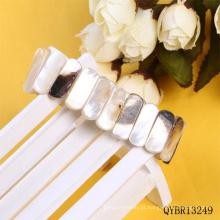 Pulseira de miçangas de concha natural fazer pulseira de concha