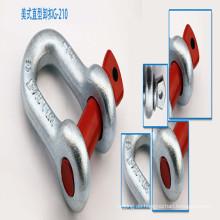 G210 U. S-Art heißer eingetauchter / galvanisierter Schrauben-Stift-Anker-Schäkel;
