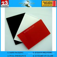 3-6mm Spandrel rojo pintado lacado de vidrio de cerámica