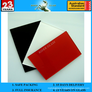 3-6mm Red Spandrel Painted Lacquered Ceramic Glass