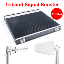 3G 4G Lte Repeater Cellphone Signal Amplifier Tri-Band Cell Phone Signal Booster 900/1800/2100MHz GSM Booster Repeater 2g 3G