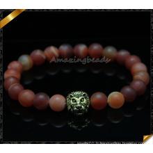 Bracelets en perles en pierre d'agate de qualité supérieure (CB087)