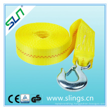 Cargo Strap with Double Hooks and Safety Factor 7: 1