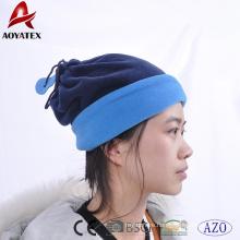 100% polyester winter warm fleece beanies hats and neck scraf