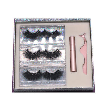 F161H Hitomi Cheap Mink Eyelash 3d Mink Lashes Vendor Fluffy 25mm Magnetic Eyelashes with Eyeliner and tweezers