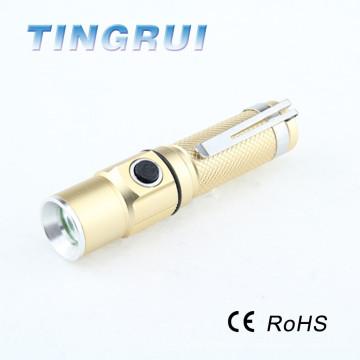 Linterna recargable llevada portable caliente de la venta con el clip