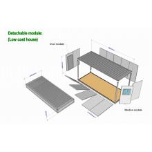 Casa de contenedores móviles 20 pies