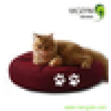Nuevo diseño ronda de frijol gato bolsa de almohada cama de mascotas impermeable