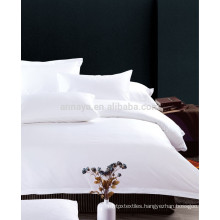 200T to 400T Hotel / Motel Use Bed Sheet Bedding Set Plain White