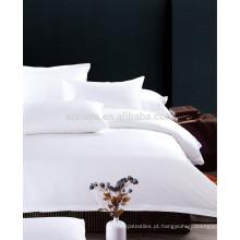 200T a 400T Hotel / Motel Uso Folha de Roupa de cama Set Plain White