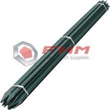 Black Y Post Galvanized dengan Klip Post