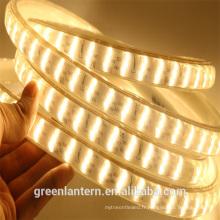 Haute luminosité SMD2835 blanc chaud 180leds / m 220v led bande lumière