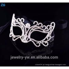 Alta qualidade cristal barato face máscara, mascarada partido máscara