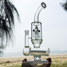 Tubos de agua de fumar de vidrio blanco de diseño más nuevo (ES-GB-297)