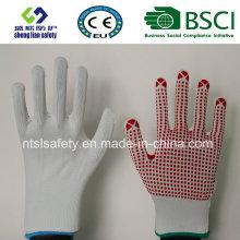 13 G Polyester Shell PVC Punkte Sicherheit Arbeitshandschuh