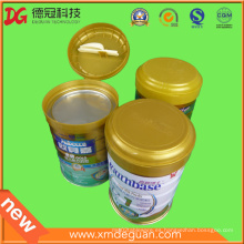 Exportar latas de polvo de leche de alta calidad tapa plegable de plástico