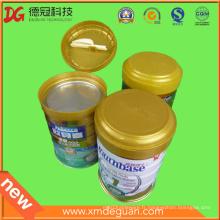 Exporter les boîtes en poudre de lait haut de gamme en plastique pliant le couvercle