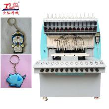 Máquina de pingar chaveiros de plástico macio
